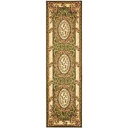 Safavieh Lyndhurst Collection Aubussons Sage/ Ivory Runner (2'3 x 12')
