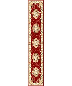 Safavieh Lyndhurst Collection Aubussons Red/ Ivory Runner (2'3 x 12')