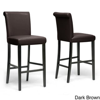 Baxton Studio Fergie Faux Leather Bar Stools (Set of 2)