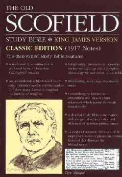 The Old Scofield Study Bible: King James Version, Navy, Bonded Leather, Classic Edition (Paperback)