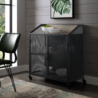 Carbon Loft Pierpont Industrial Mesh Bar Cabinet