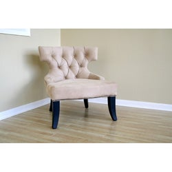 Alyssa Tan Microfiber Nail Head Chair