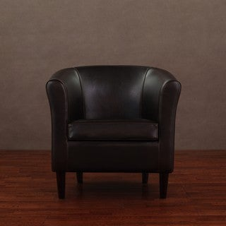 Tovano Dark Brown Leather Arm Chair