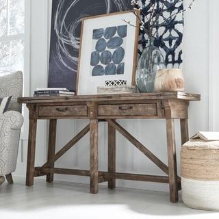 Bluff Heights Rustic Weathered Nutmeg Flip-top Sofa Table