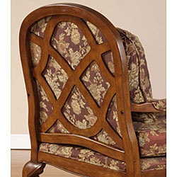 Salon Burgundy Brocade Chair