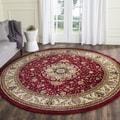Safavieh Lyndhurst Collection Red/ Ivory Rug (5' 3 Round)