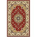 Lyndhurst Collection Red/Ivory Area Rug (3'3