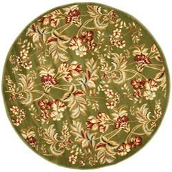Safavieh Lyndhurst Collection Floral Sage Rug (5' 3 Round)