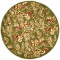 Lyndhurst Collection Floral Sage Rug (5' 3 Round)