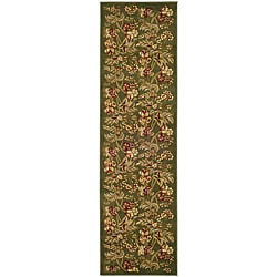 Lyndhurst Collection Floral Sage Runner (2'3 x 12')