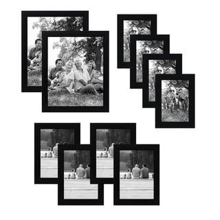 Americanflat 10-Piece Multipack Black Frames - Includes Two 8x10 Frames, Four 5x7 Frames, and Four 4x6 Frames