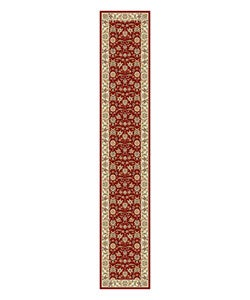Safavieh Lyndhurst Collection Floral Burgundy/ Ivory Runner (2'3 x 12')