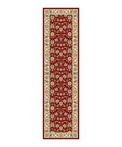 Safavieh Lyndhurst Collection Floral Burgundy/ Ivory Runner (2'3 x 8')