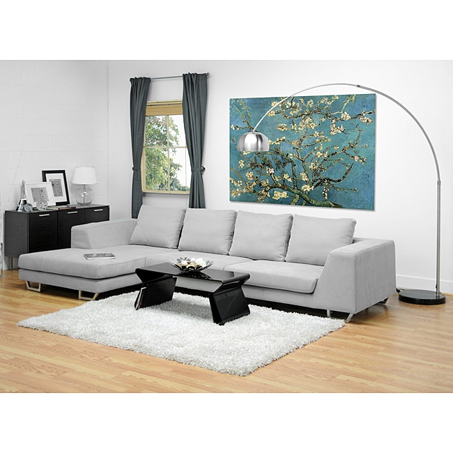 metropolitan large grey sectional sofa with chaise 10501188 shopping big. Black Bedroom Furniture Sets. Home Design Ideas