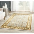 Lyndhurst Floral Motif Greyish Blue/ Ivory Runner (2&#39;3 x 12)