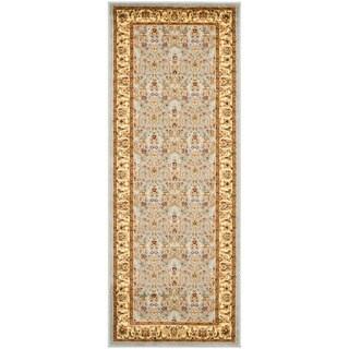 Safavieh Lyndhurst Floral Motif Greyish Blue/ Ivory Runner (2'3 x 8')