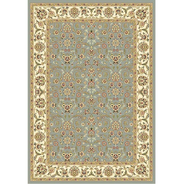 Safavieh Lyndhurst Floral Motif Greyish Blue/ Ivory Rug (5'3 x 7'6)