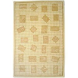 Hand-tufted Melody Floral Wool Rug (9' x 13')