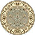 Safavieh Lyndhurst Floral Motif Greyish Blue/ Ivory Rug (5' Round)