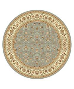 Safavieh Lyndhurst Floral Motif Greyish Blue/ Ivory Rug (8' Round)