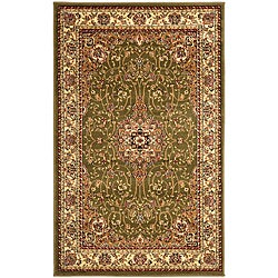 "Lyndhurst Collection Floral Sage/Ivory Rug (3'3"" x 5'3"")"