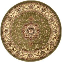 """Safavieh Lyndhurst Collection Sage/Ivory Area Rug (5' 3"""" Round)"""