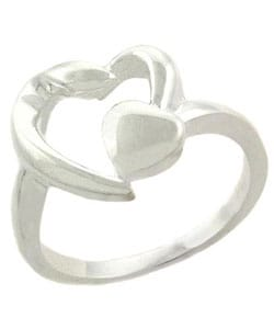 Mondevio Sterling Silver Double Heart Ring