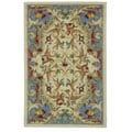 Hand-hooked Aubusson Fruit Ivory/ Blue Wool Rug (2'6 x 4')
