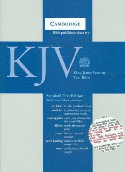 Holy Bible: King James Version, Black, French Morocco, Standard Text (Paperback)