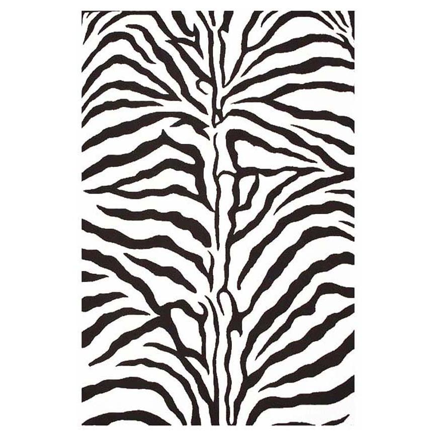 Acura Homes Hand-tufted Zebra Stripe Wool Rug (3' x 5') at Sears.com