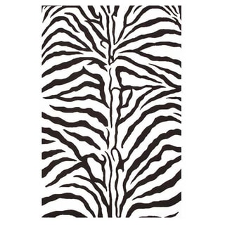 Hand-tufted Zebra Stripe Wool Rug (3' x 5')