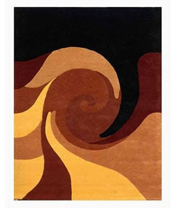 Hand-tufted Twister Wool Rug (8' x 10'6)