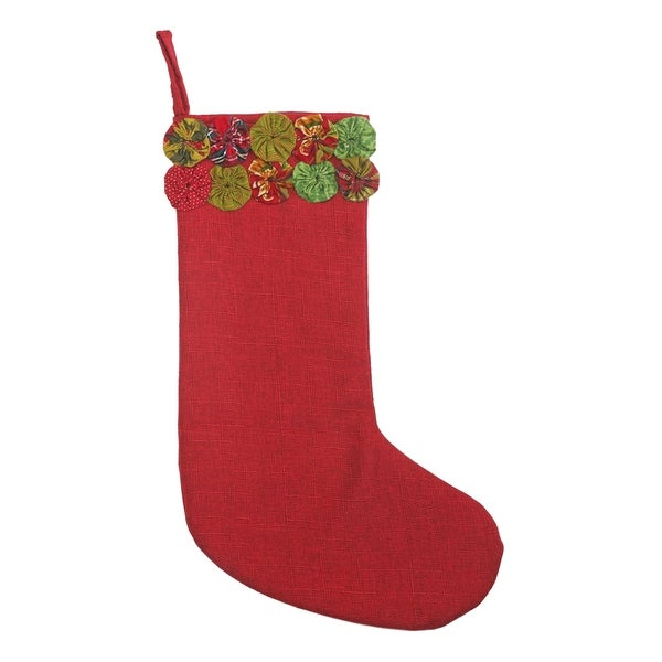 Vintage Holiday Christmas Stocking