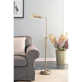 Lois 50-inch Antique Brass Task Floor Lamp