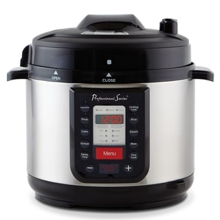 Continental Electric Pro 6 Quart Pressure Cooker Stainless Steel