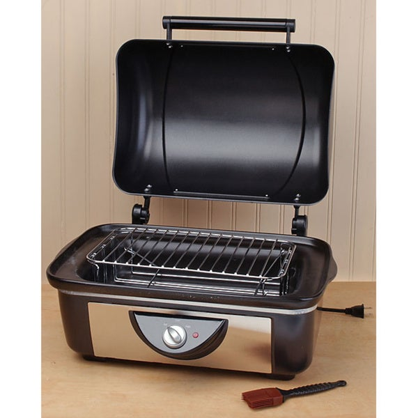 Rival Bb200 Black Stainless Steel Crockpot Bbq Pit