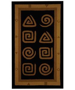Safavieh Hand-hooked Geo Black Wool Rug (2'9 x 4'9)