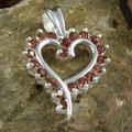Handcrafted Garnet Love Pendant (India)