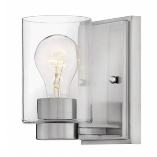 Hinkley Miley 1-Light Sconce in Brushed Nickel with Clear