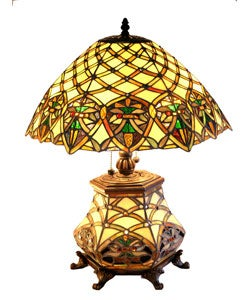 Tiffany-style All Glass Arielle Table Lamp