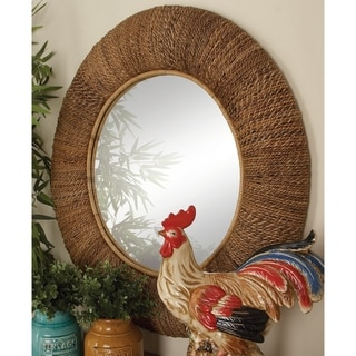 The Curated Nomad Kaltenborn Wood Rattan Mirror