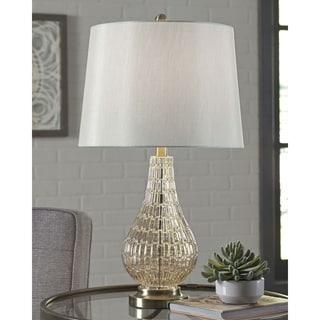 Latoya Glass 25 Inch Table Lamp - Champagne