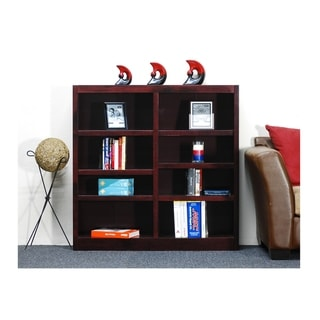 Concepts in Wood MI4848 Double Wide Bookcase, 8 Shelves