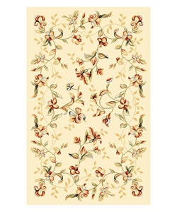 Safavieh Lyndhurst Collection Floral Beige Rug (3'3 x 5'3)