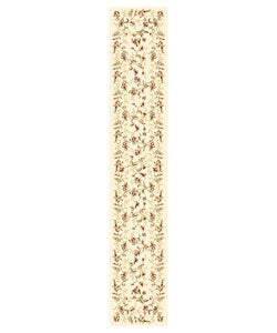 Lyndhurst Collection Floral Beige Runner (2'3 x 12')