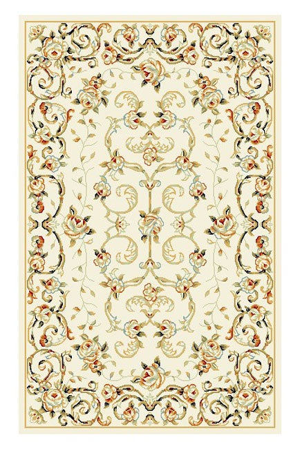 Safavieh Lyndhurst Collection Floral Ivory Rug (3'3 x 5'3)