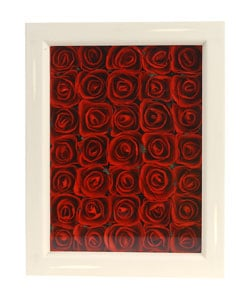 Kabella Red Mulberry Roses Framed Wall Hanging