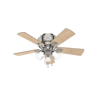 """Hunter 42"""" Crestfield Low Profile Ceiling Fan with LED Light Kit and Pull Chain"""