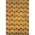 Hand-knotted Boxes Brown Wool Rug (8' x 11')