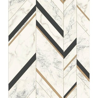 Groveland Marble Chevron 20.8 In. x 32.8 Ft. = 56.9 Sq.Ft